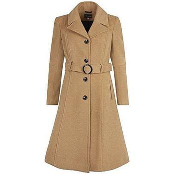 Clothing Women Duffel coats De La Creme Cashmere Winter Coat Beige