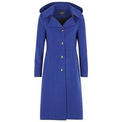Clothing Women Duffel coats De La Creme Anastasia-Womens Winter Cashmere Hooded Coat Blue