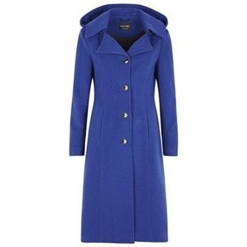 Clothing Women Parkas De La Creme Cashmere Winter Coat Blue