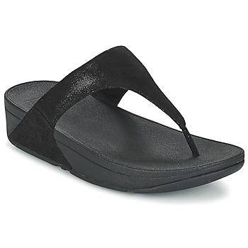 Shoes Women Flip flops FitFlop SHIMMY SUEDE TOE-POST Black