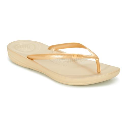 Shoes Women Flip flops FitFlop IQUSHION ERGONOMIC FLIP-FLOPS Gold