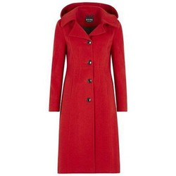 Clothing Women Duffel coats De La Creme Anastasia-Womens Winter Cashmere Hooded Coat Red
