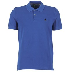 Clothing Men short-sleeved polo shirts Benetton FOBIKA Blue