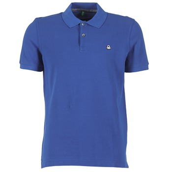 Clothing Men short-sleeved polo shirts Benetton FOBIKA Blue