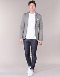 Clothing Men slim jeans Benetton JUSKU Blue / Raw