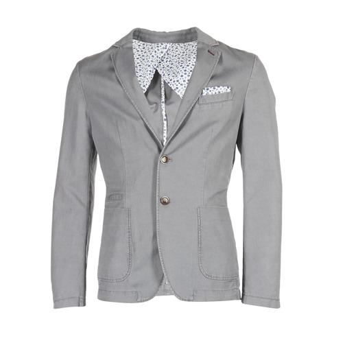 Clothing Men Jackets / Blazers Benetton MASKIOL Grey