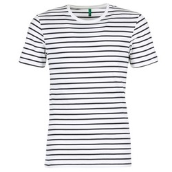 Clothing Men short-sleeved t-shirts Benetton MAKOUL Blue / White
