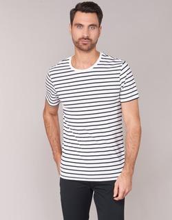 Clothing Men short-sleeved t-shirts Benetton MAKOUL Blue / White