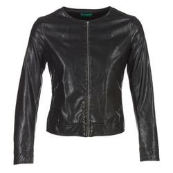 Clothing Women Leather jackets / Imitation leather Benetton JANOURA Black