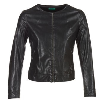 Clothing Women Leather jackets / Imitation leather Benetton JANOURA Black
