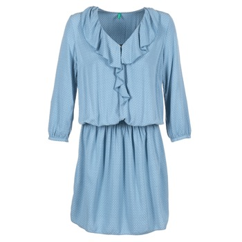 Clothing Women Short Dresses Benetton AFIDOUL Blue