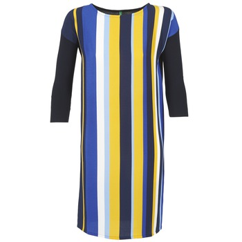 Clothing Women Short Dresses Benetton VAGODA Blue / Yellow / White