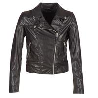 Clothing Women Leather jackets / Imitation leather Benetton FAJOLI Black