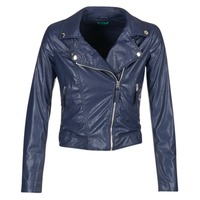 Clothing Women Leather jackets / Imitation leather Benetton FERDONI MARINE