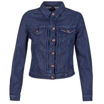 Clothing Women Denim jackets Benetton FESCAR Blue / Dark