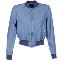 Clothing Women Denim jackets Benetton FERMANO Blue / MEDIUM