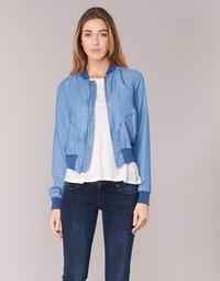 Clothing Women Denim jackets Benetton FERMANO Blue / Medium