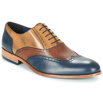 Shoes Men Brogues Brett & Sons ROLIATE Brown / BEIGE / Blue