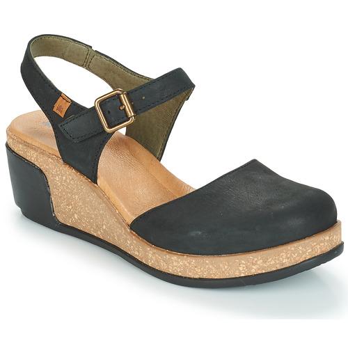 Shoes Women Sandals El Naturalista LEAVES Black