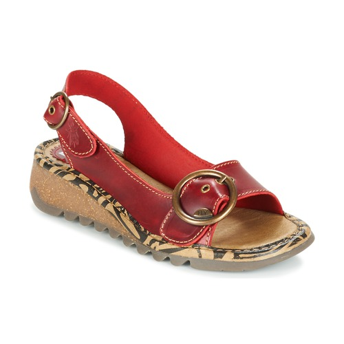 Shoes Women Sandals Fly London TRAMFLY Red
