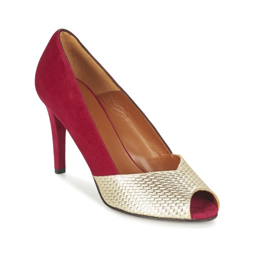 Shoes Women Heels Heyraud ELOISE Red / Gold
