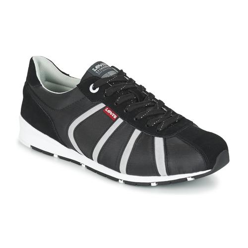 Shoes Men Low top trainers Levi's ALMAYER II Black / White