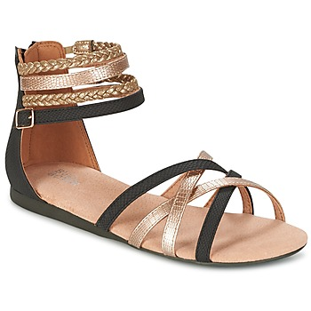 Shoes Girl Sandals Bullboxer REVILZOA Black / Gold