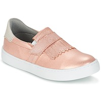 Shoes Girl Slip ons Bullboxer ADJAGUE Pink / Gold