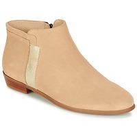 Shoes Women Mid boots M. Moustache EMMANUELLE BEIGE / Silver