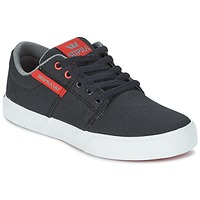 Shoes Children Low top trainers Supra KIDS STACKS II VULC Black / Red