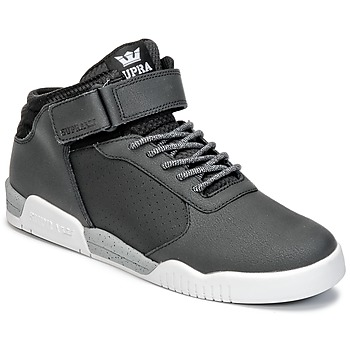Shoes Men Hi top trainers Supra ELLINGTON STRAP Black
