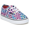 Shoes Children Low top trainers Vans AUTHENTIC Multi / True White