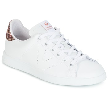 Shoes Women Low top trainers Victoria DEPORTIVO BASKET PIEL White / Pink / Glitter