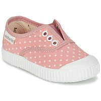 Shoes Girl Low top trainers Victoria INGLESA LUNARES ELASTICO Pink