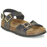 Shoes Girl Sandals Betula Original Betula Fussbett JEAN Glitter / Multi