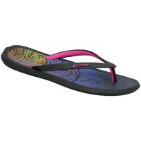 Shoes Women Flip flops Rider R1 Fem Black-Blue-Pink