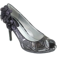Shoes Women Heels Ruby Shoo donna women's metallic pewter brocade peep toe high heel shoes Pewter