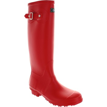 Wellington boots Cotswold sandringham women's red pull on waterproof rubber wellington bo