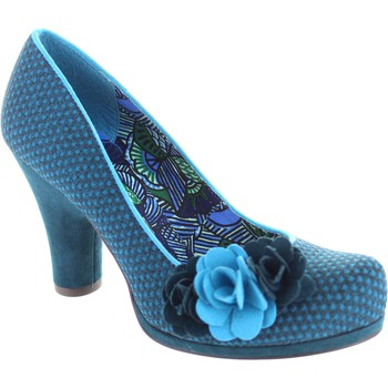 Shoes Women Heels Ruby Shoo eva womens petrol blue Retro jacquard high heel shoes with cors Petrol Blue