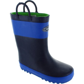 Shoes Boy Wellington boots Chipmunks Lev print boy's blue waterproof pull on rubber wellington boots blue/Navy
