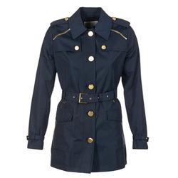Clothing Women Trench coats MICHAEL Michael Kors ZIPPER YOKE TRENCH MARINE