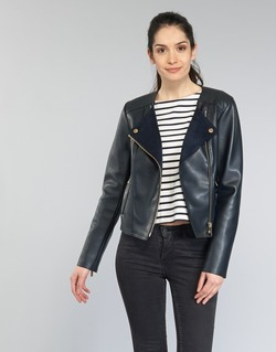 Clothing Women Leather jackets / Imitation leather MICHAEL Michael Kors BONDED LTHER JKT MARINE