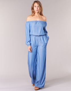 Clothing Women Jumpsuits / Dungarees MICHAEL Michael Kors TENCEL OFF SHDR JUMPSUIT Blue
