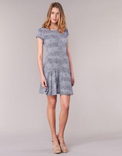 Clothing Women Short Dresses MICHAEL Michael Kors ZEPHYR SS FLARE DRS Blue / White