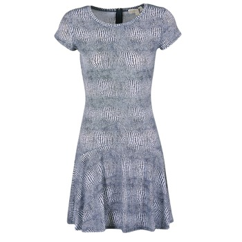 Clothing Women Short Dresses MICHAEL Michael Kors ZEPHYR SS FLARE DRS Blue / White