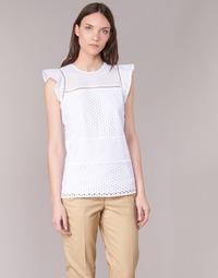 Clothing Women Tops / Blouses MICHAEL Michael Kors COMBO EYELET S/S White