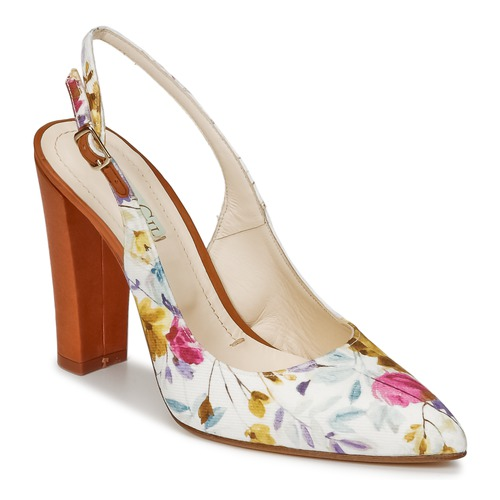 Shoes Women Sandals Paco Gil EMILE White / Brown