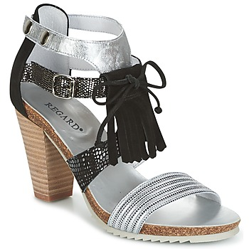 Shoes Women Sandals Regard RIKA Grey / Black