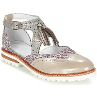 Shoes Women Derby Shoes Regard ROAXO Beige / Silver