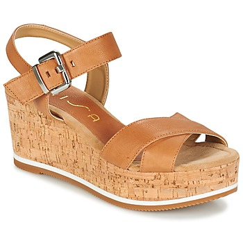 Shoes Women Sandals Unisa KARPI Beige